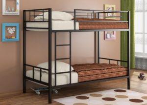 Черная кровать Севилья-2