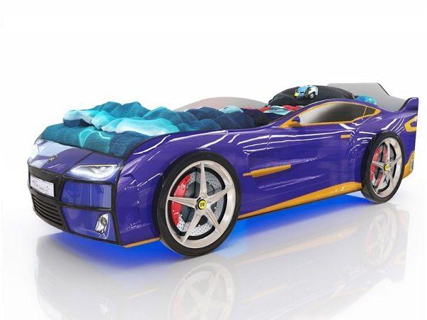 Кровать-машина Kiddy Синяя
