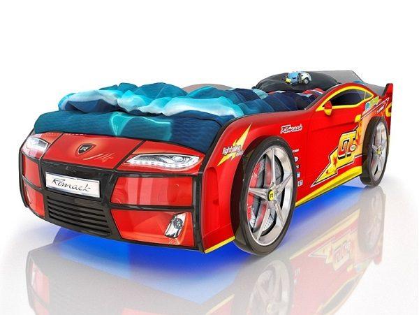 Кровать-машина Kiddy Красная Молния