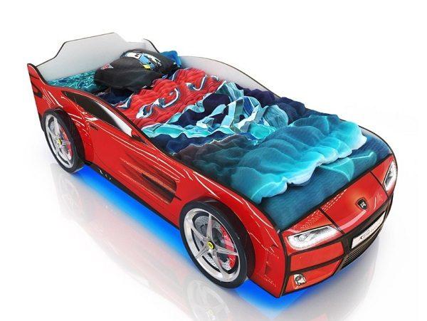 Кровать-машина Kiddy Красная