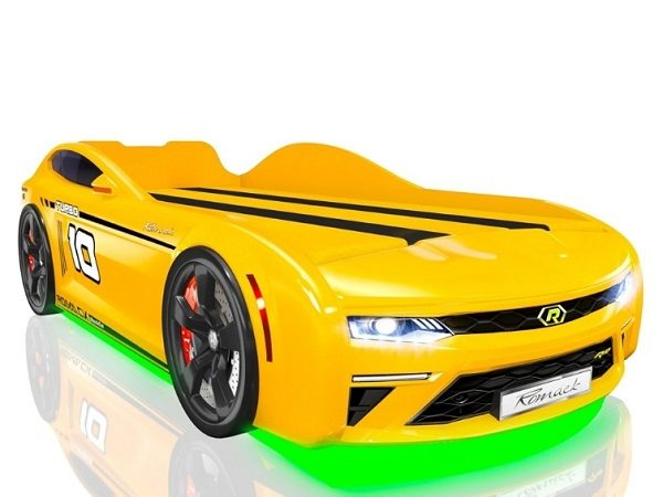 Кровать-машина Romack Energy Желтая