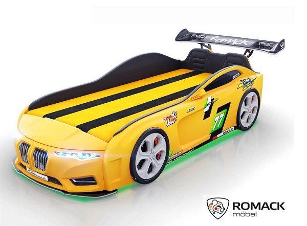 Кровать-машина Romack Renner-2 (2019) Желтая