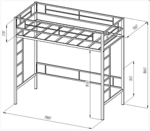 Кровать-чердак Севилья - 1-1