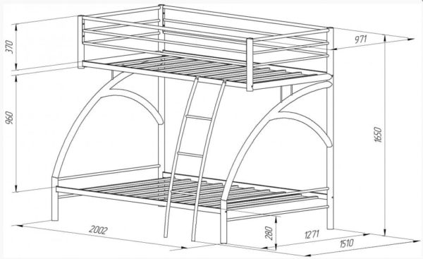 Двухъярусная кровать Виньола - 2