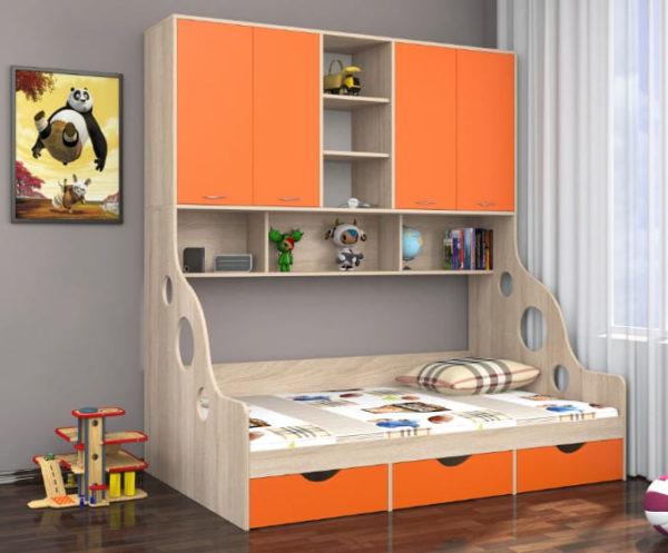 Кровать с антресолью Дельта - 21.11 СС