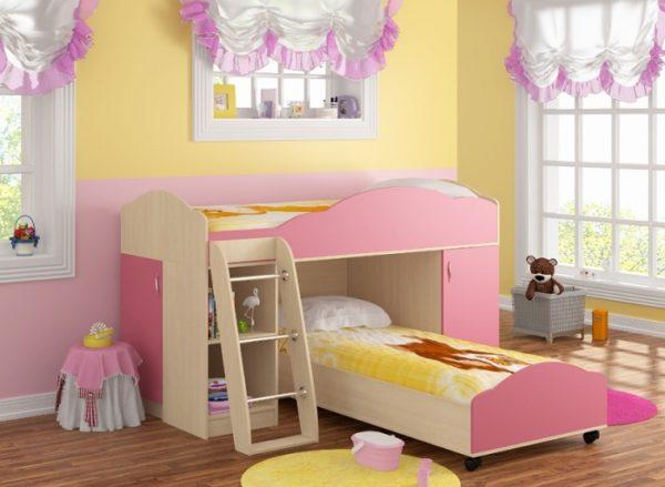Модульная кровать-чердак Дюймовочка-5 Набор 1