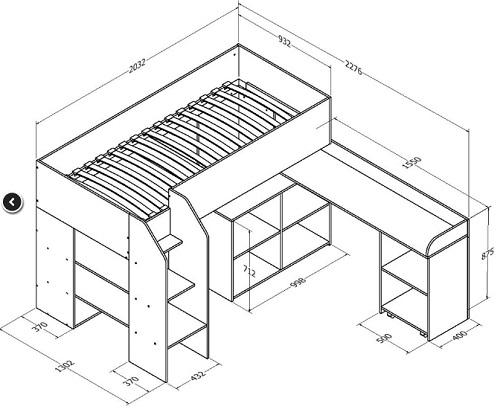 Кровать-чердак Теремок-2