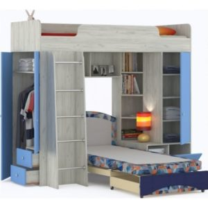 Кровать Тетрис с диваном